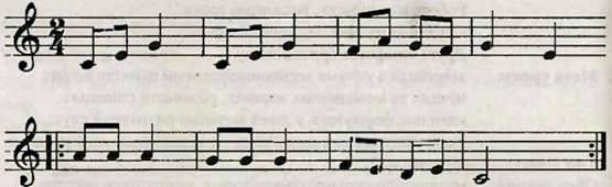Реприза і її використання у ритмічній вправі. Робота над піснею Веселкова пісня. Слухання музики. П. Чайковський. Друга симфонія (фрагменти)