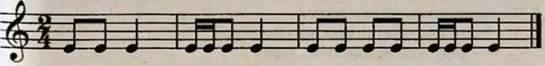 Ритмічна вправа у розмірі 2/4. Робота над піснею Вийшли в поле косарі. Слухання музики. В. Барвінський. Прелюдія № 4 Хорал