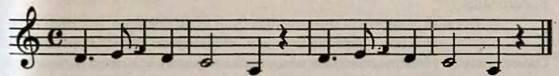 Крапка біля нот і пауз. Робота над піснею Реве та стогне Дніпр широкий. Слухання музики. В. А. Моцарт. Рондо із Маленької нічної серенади та Лакримозу з Реквієму