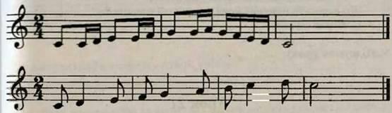 Різновиди ритмічного письма, синкопа, вправа. Робота над піснею Синові. Слухання музики. Дж. Россіні. Увертюра до опери Севільський цирульник