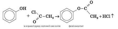 Фенол, його склад, будова. Фізичні властивості фенолу. Хімічні властивості: взаємодія з натрієм, розчином лугу, бромною водою, ферум(ІІІ) хлоридом. Взаємний вплив атомів у молекулі фенолу
