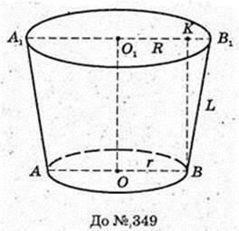 Обєми і площі поверхонь геометричних тіл