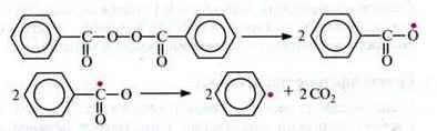 Радикальна полімеризація   Радикальні реакції