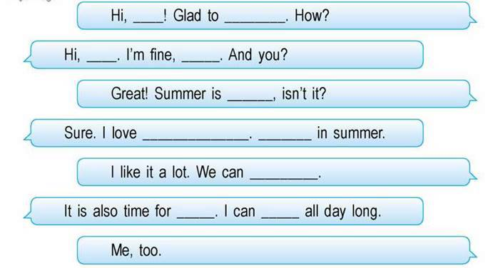 Learn to talk about summer