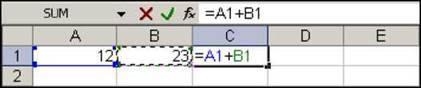 Використання рядка формул