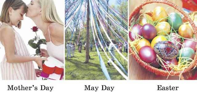 Learn to talk about American spring holidays